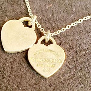 Tiffany & Co. Jewelry - Tiffany & Co 2 Charm Heart Necklace